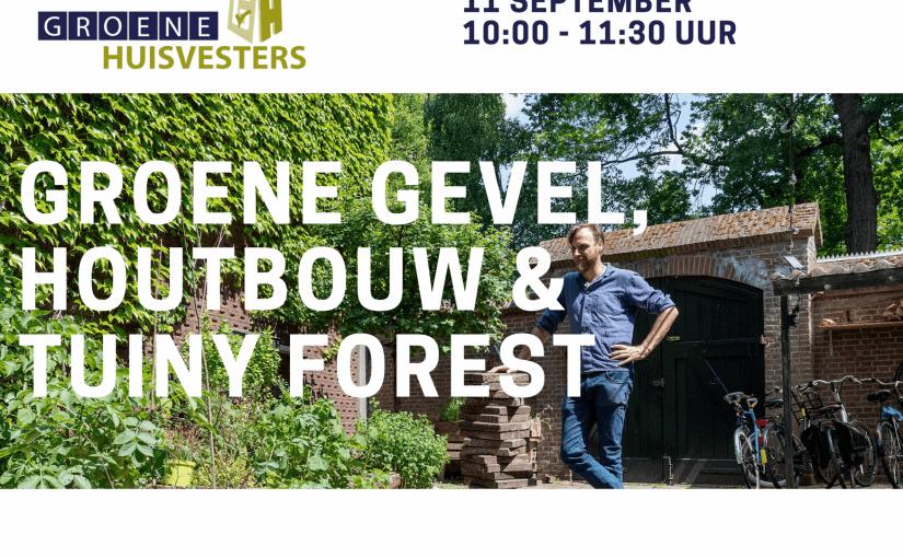 Wonen Limburg inspireert met groene gevel, Tuiny Forest en houtbouw